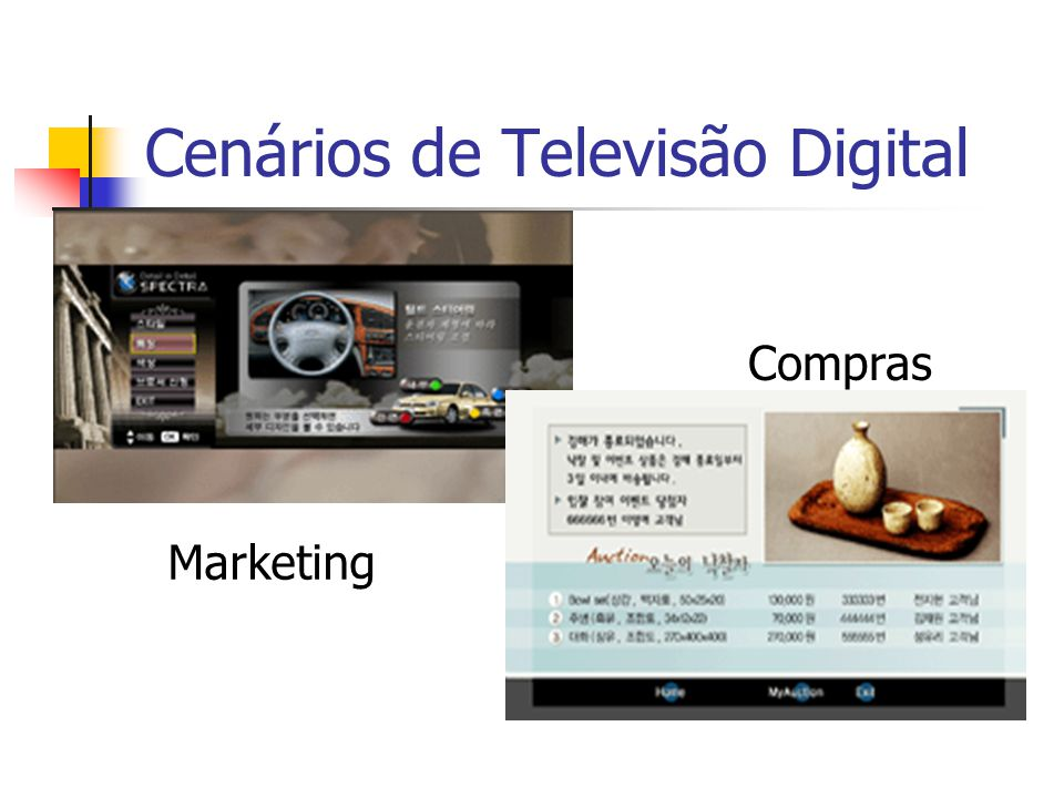 Cenários de Televisão Digital