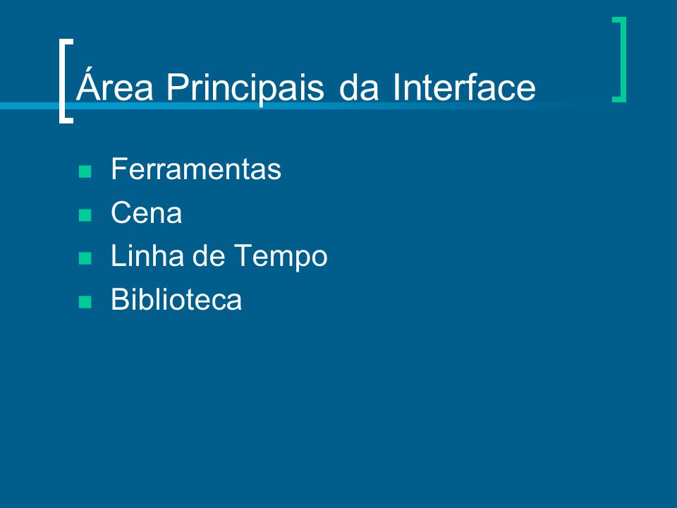 Área Principais da Interface