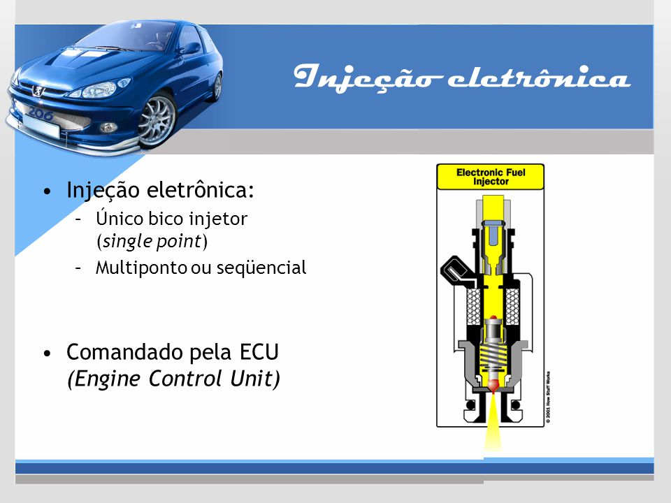 Injeção eletrônica Injeção eletrônica: