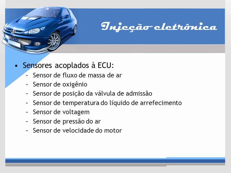 Injeção eletrônica Sensores acoplados à ECU: