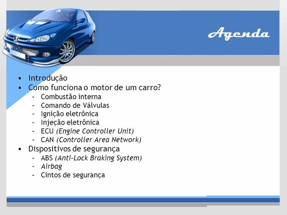 Agenda Introdução Como funciona o motor de um carro