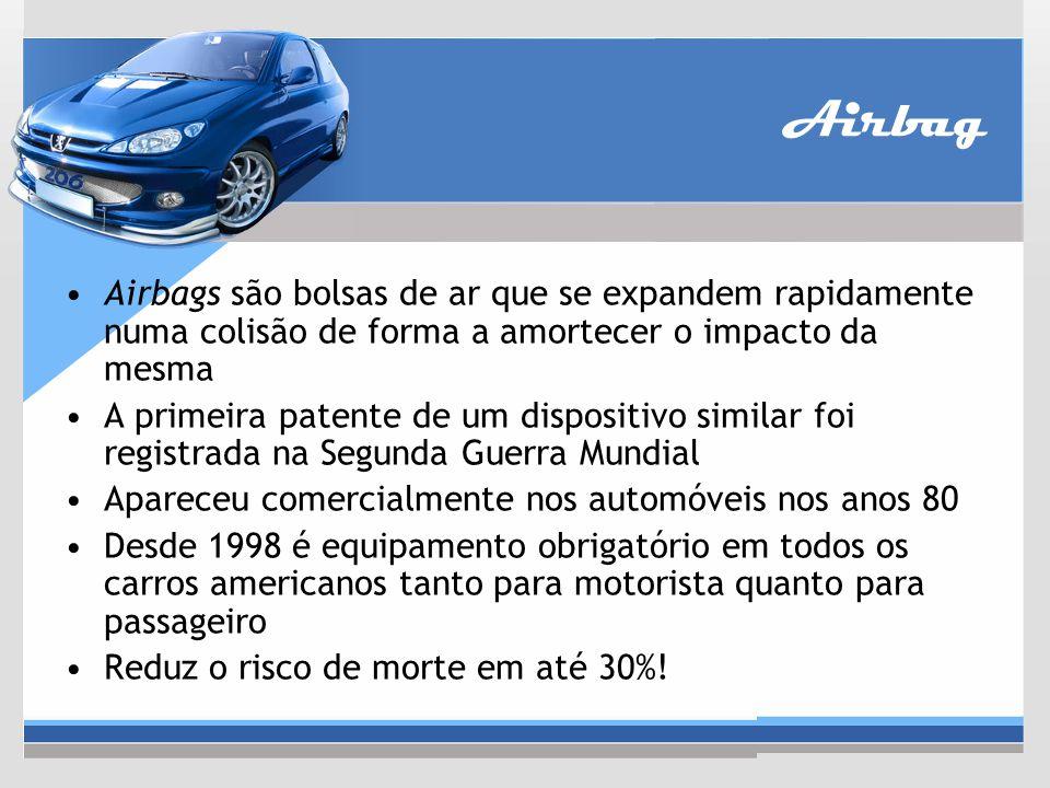 Airbag Airbags são bolsas de ar que se expandem rapidamente numa colisão de forma a amortecer o impacto da mesma.