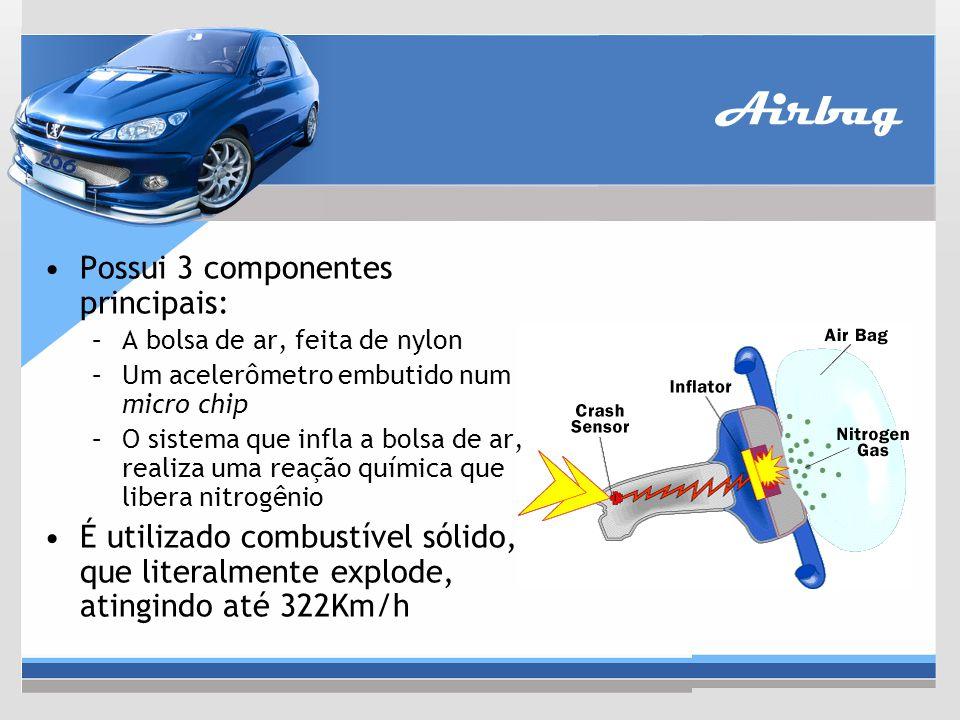 Airbag Possui 3 componentes principais: