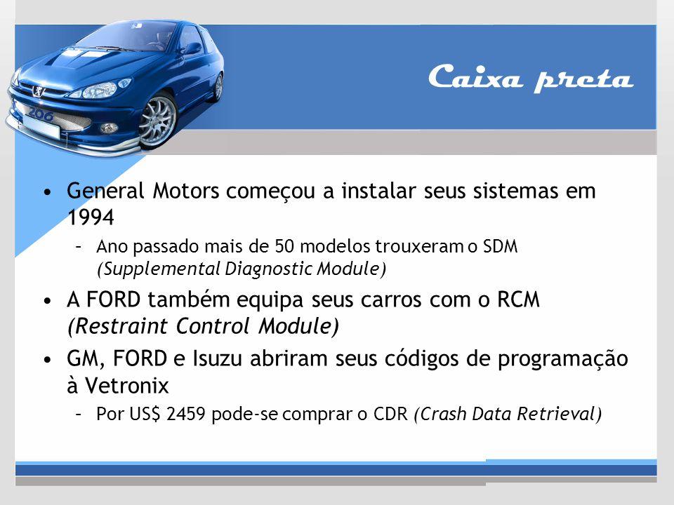 Caixa preta General Motors começou a instalar seus sistemas em 1994