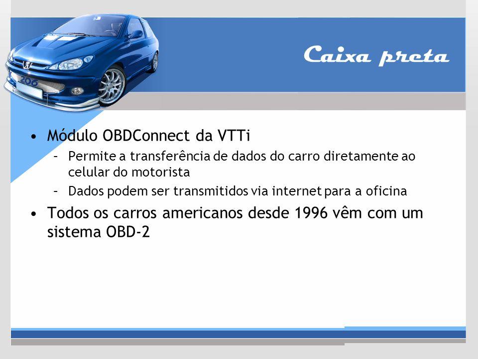 Caixa preta Módulo OBDConnect da VTTi