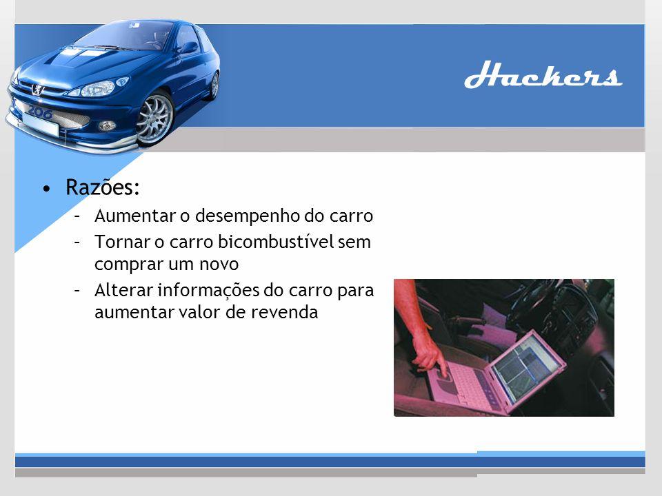 Hackers Razões: Aumentar o desempenho do carro