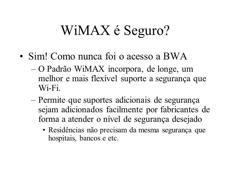 WiMAX é Seguro Sim! Como nunca foi o acesso a BWA