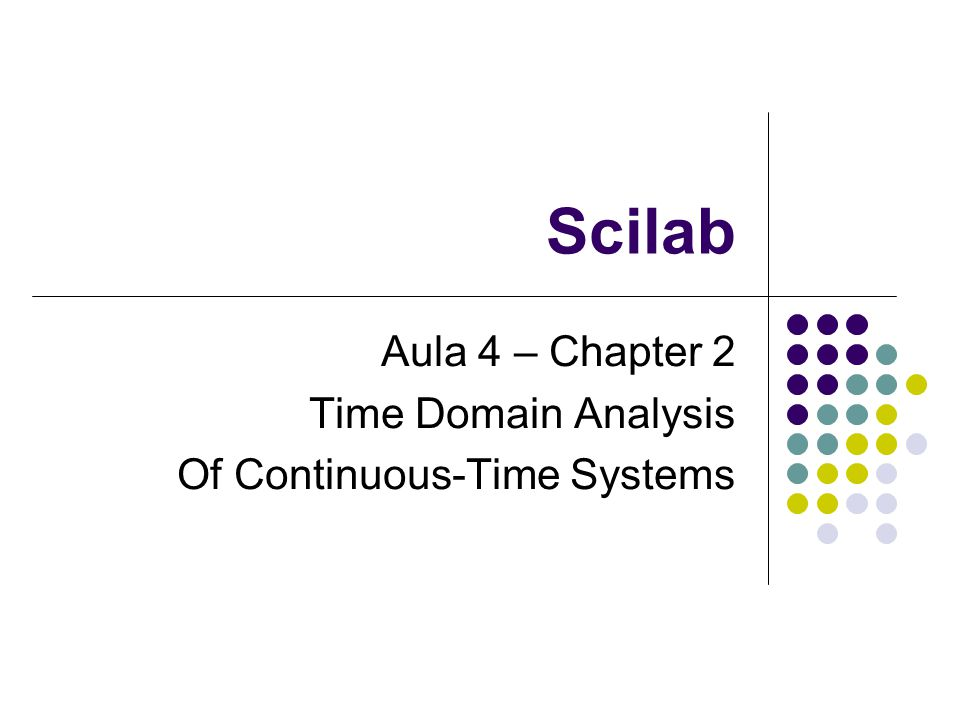 Aula 4 – Chapter 2 Time Domain Analysis Of Continuous-Time Systems