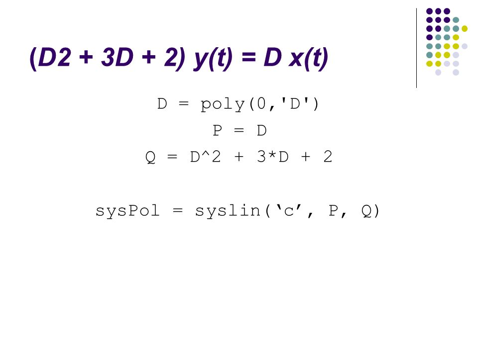 sysPol = syslin('c', P, Q)