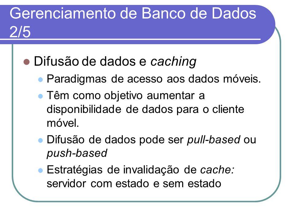 Gerenciamento de Banco de Dados 2/5