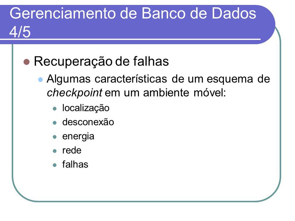 Gerenciamento de Banco de Dados 4/5