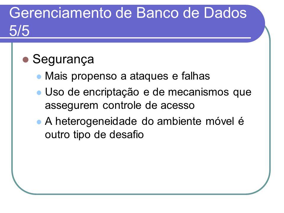 Gerenciamento de Banco de Dados 5/5