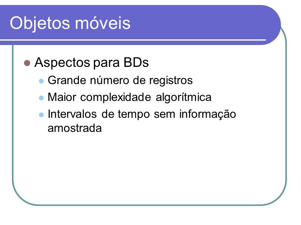 Objetos móveis Aspectos para BDs Grande número de registros