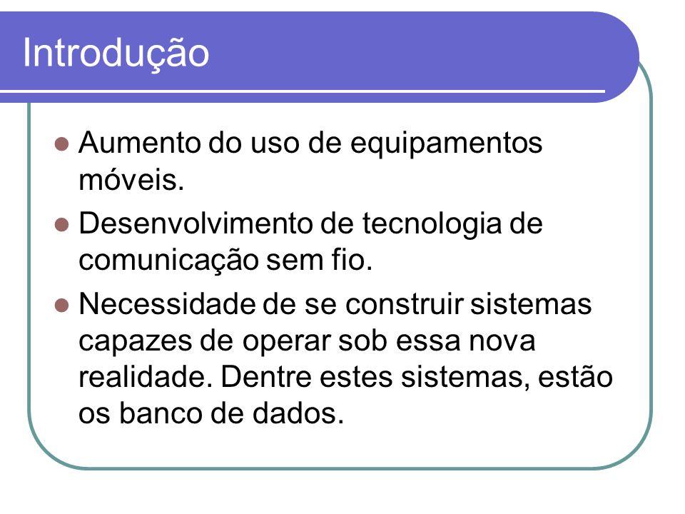 Introdução Aumento do uso de equipamentos móveis.