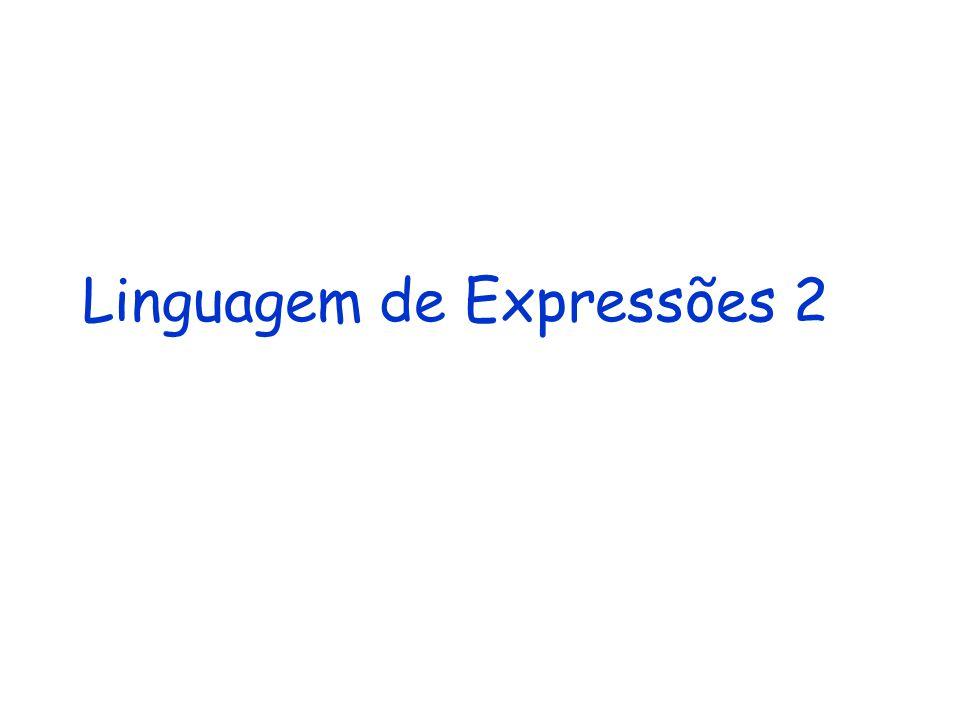 Linguagem de Expressões 2