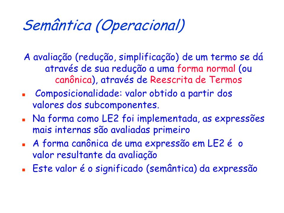 Semântica (Operacional)