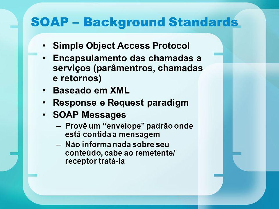 SOAP – Background Standards