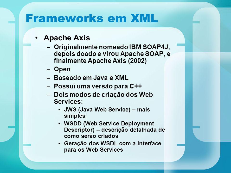 Frameworks em XML Apache Axis