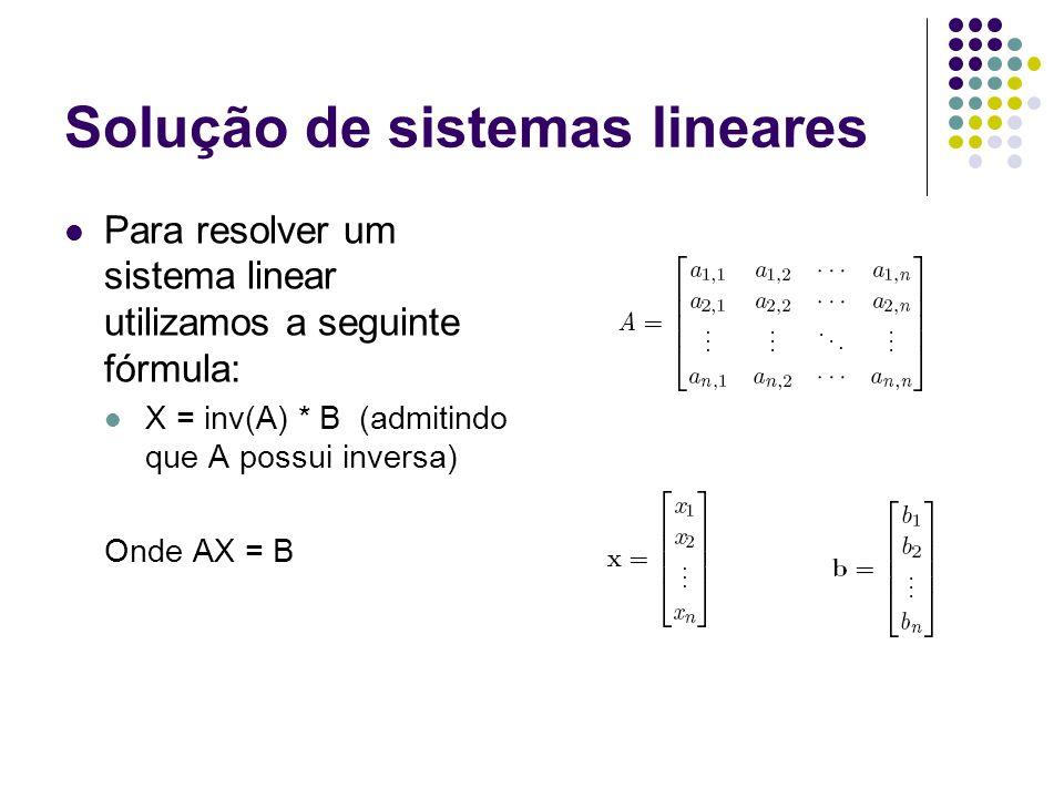Solução de sistemas lineares