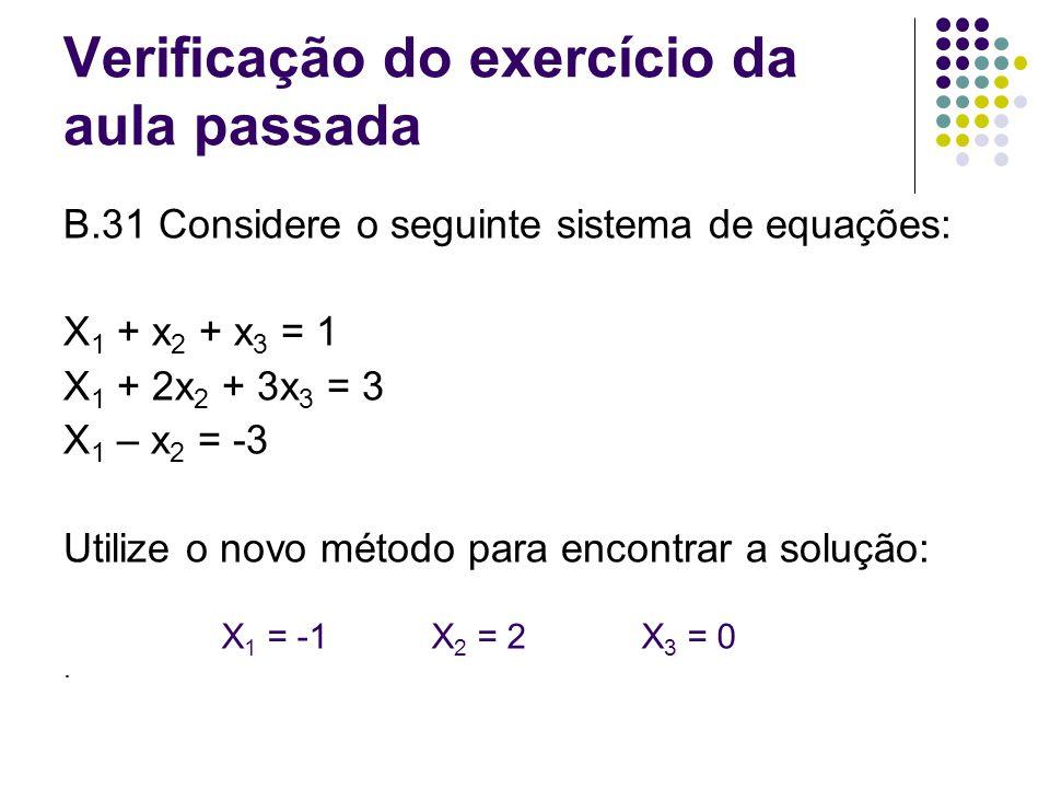 Verificação do exercício da aula passada