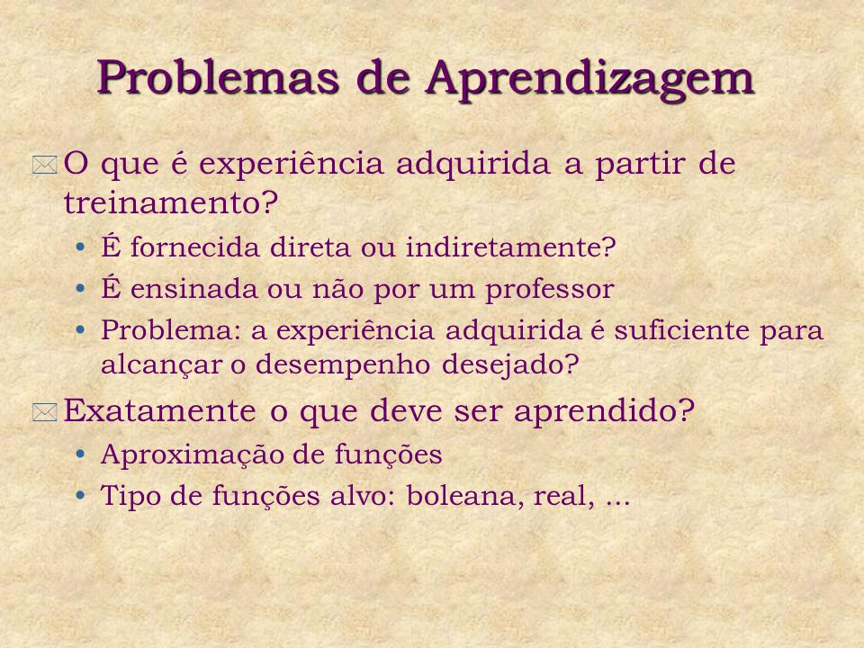 Problemas de Aprendizagem
