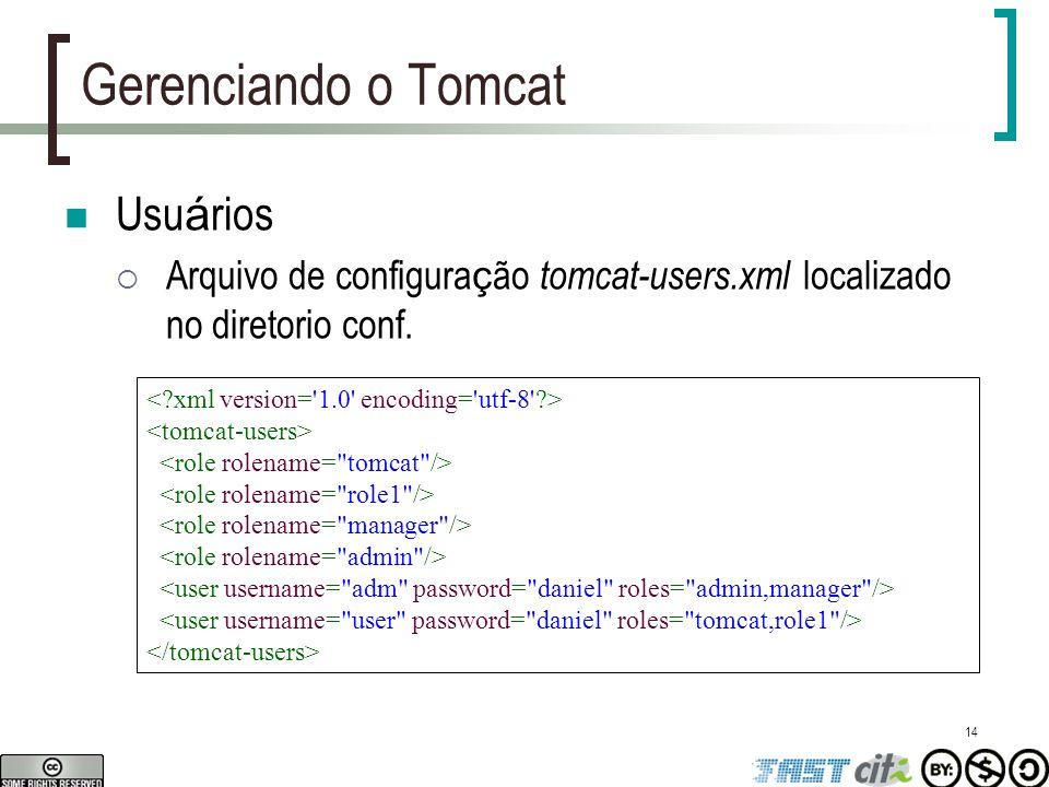 Gerenciando o Tomcat Usuários