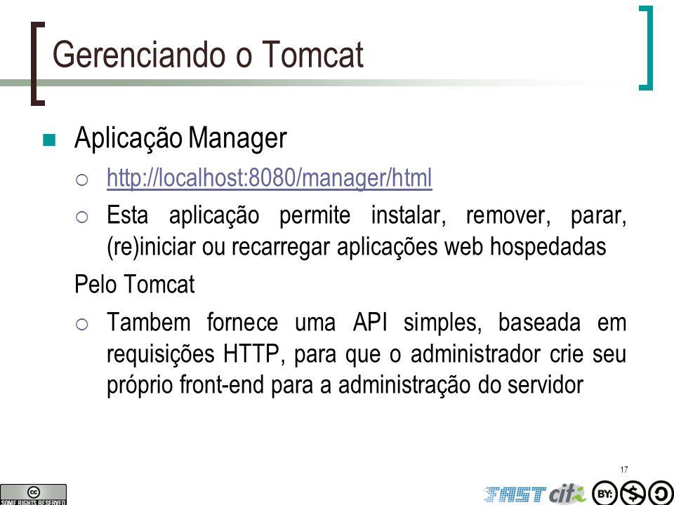 Gerenciando o Tomcat Aplicação Manager