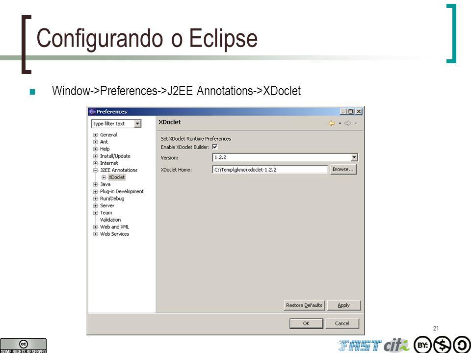 Configurando o Eclipse