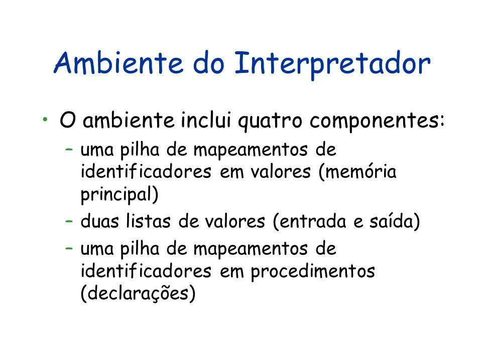 Ambiente do Interpretador