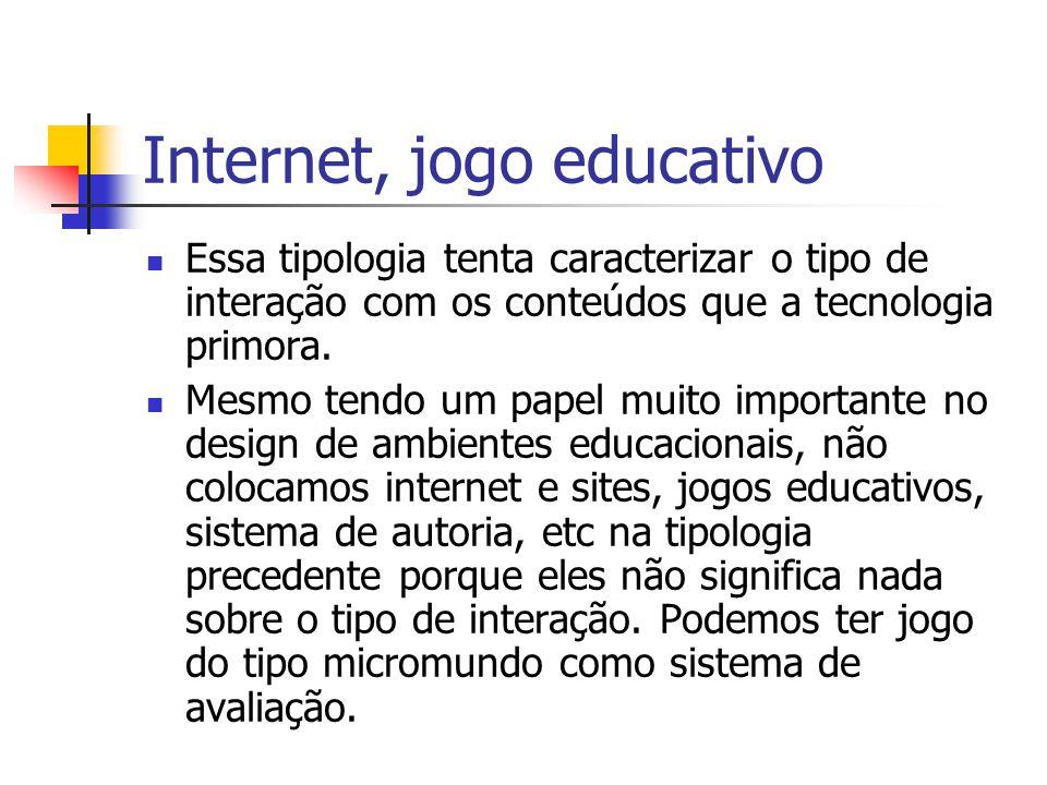 Internet, jogo educativo