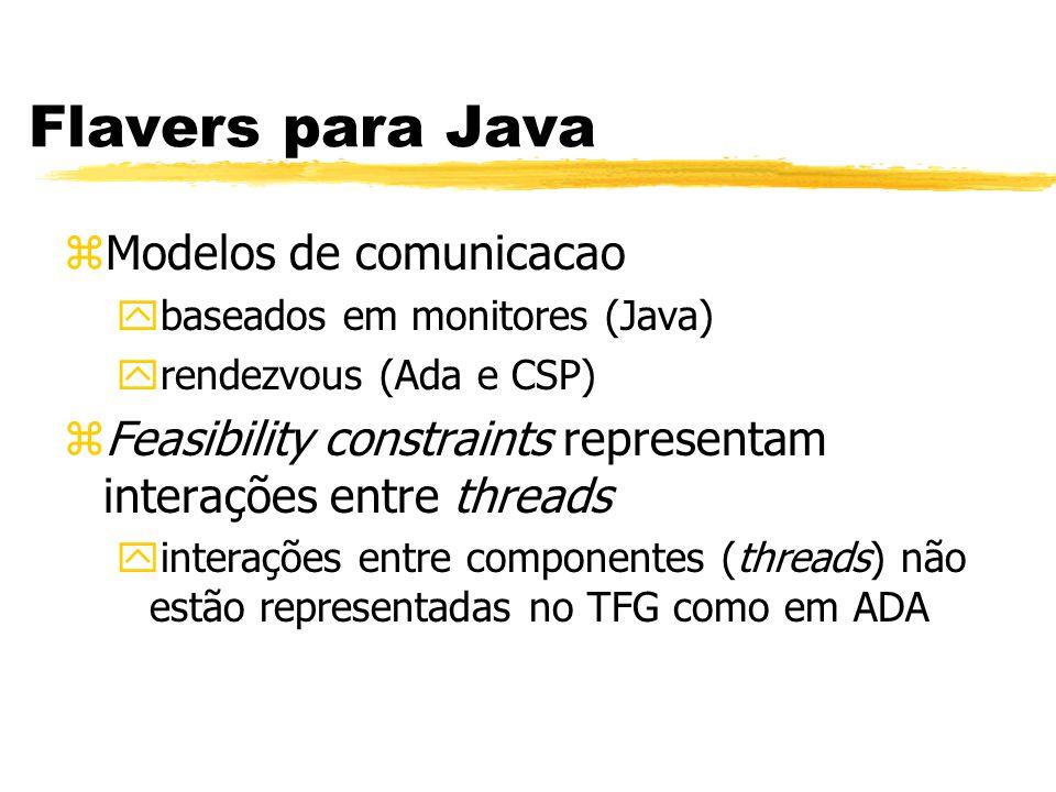 Flavers para Java Modelos de comunicacao