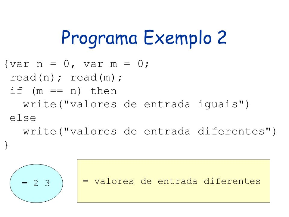 = valores de entrada diferentes
