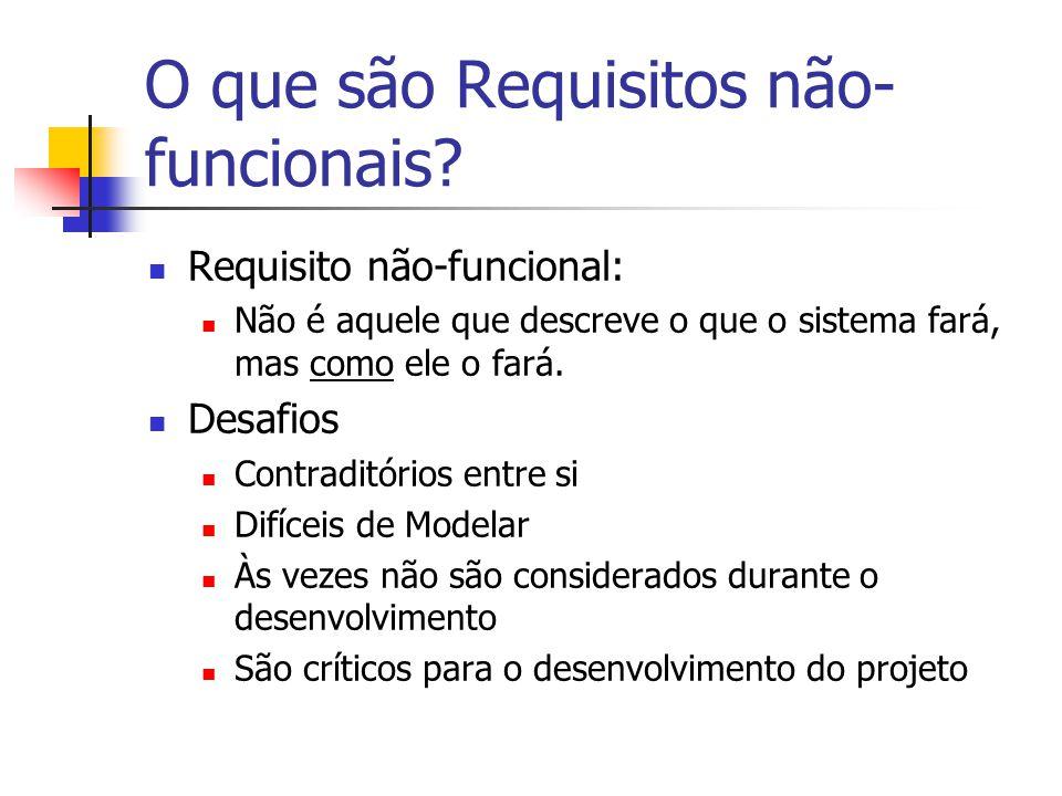 O que são Requisitos não- funcionais