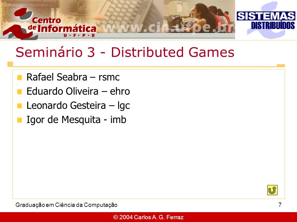 Seminário 3 - Distributed Games