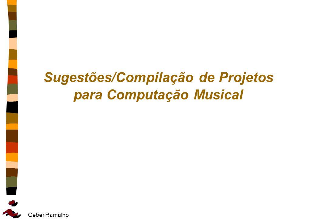 Sugestões/Compilação de Projetos para Computação Musical