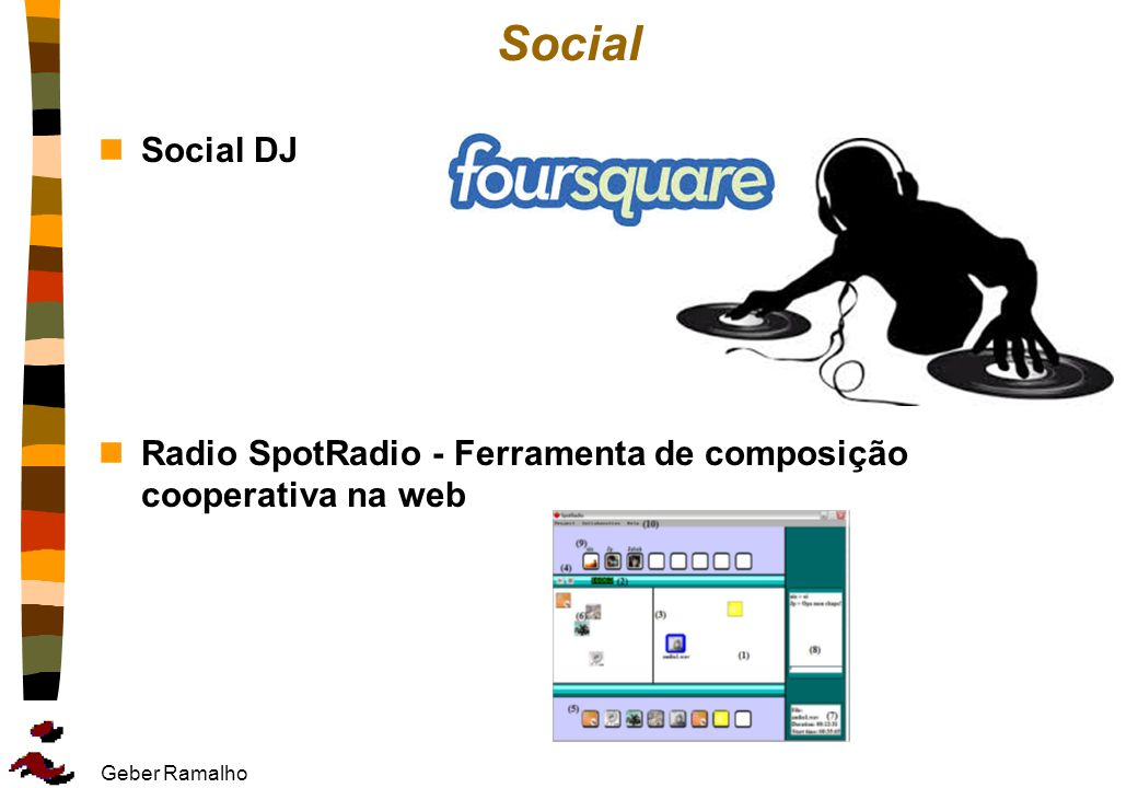 Social Social DJ Radio SpotRadio - Ferramenta de composição cooperativa na web