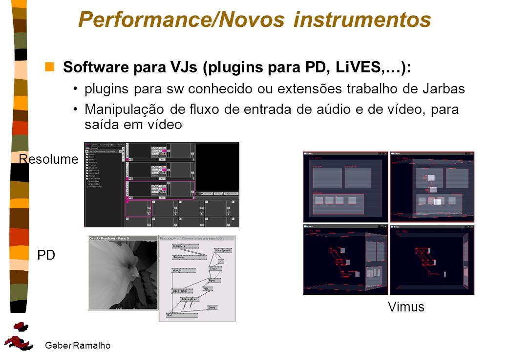 Performance/Novos instrumentos
