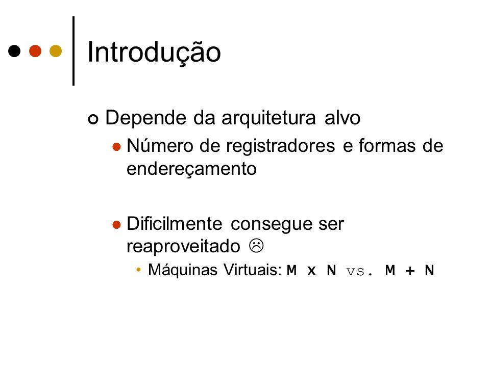 Introdução Depende da arquitetura alvo