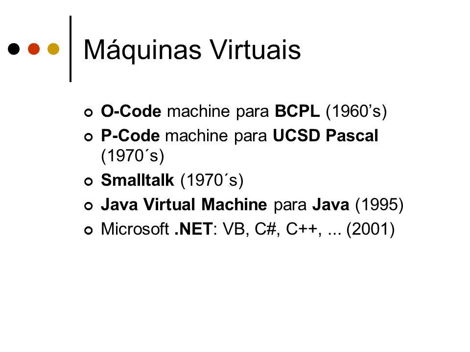 Máquinas Virtuais O-Code machine para BCPL (1960's)