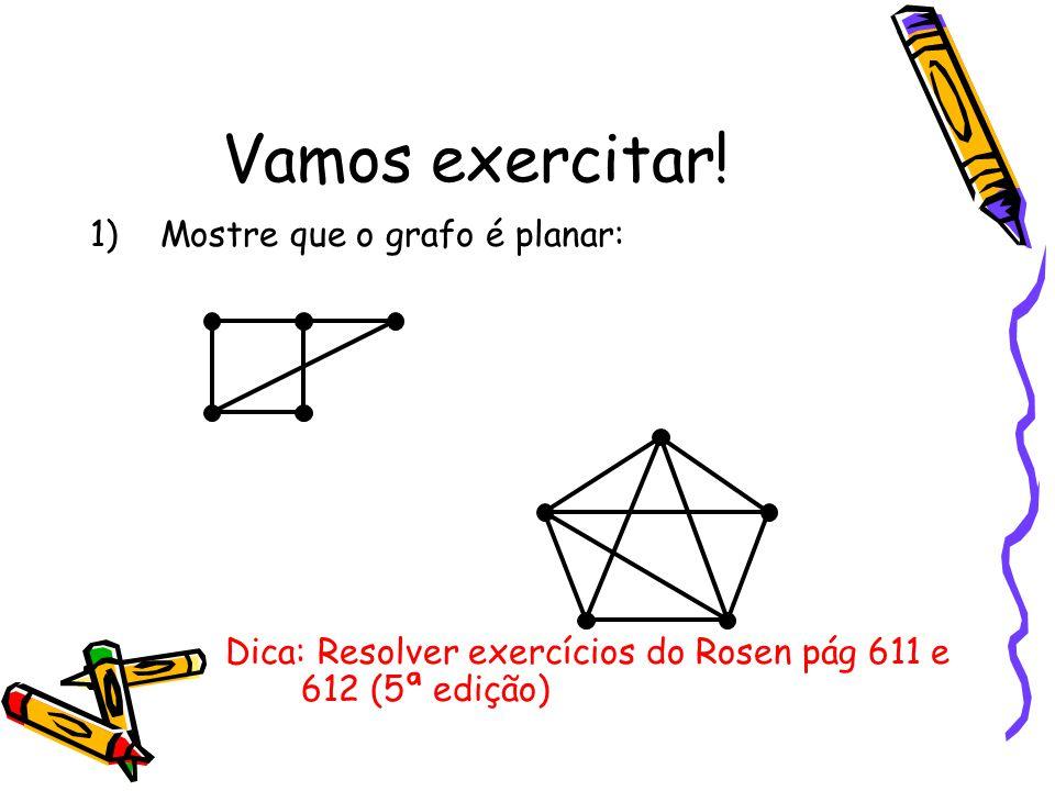 Vamos exercitar! Mostre que o grafo é planar: