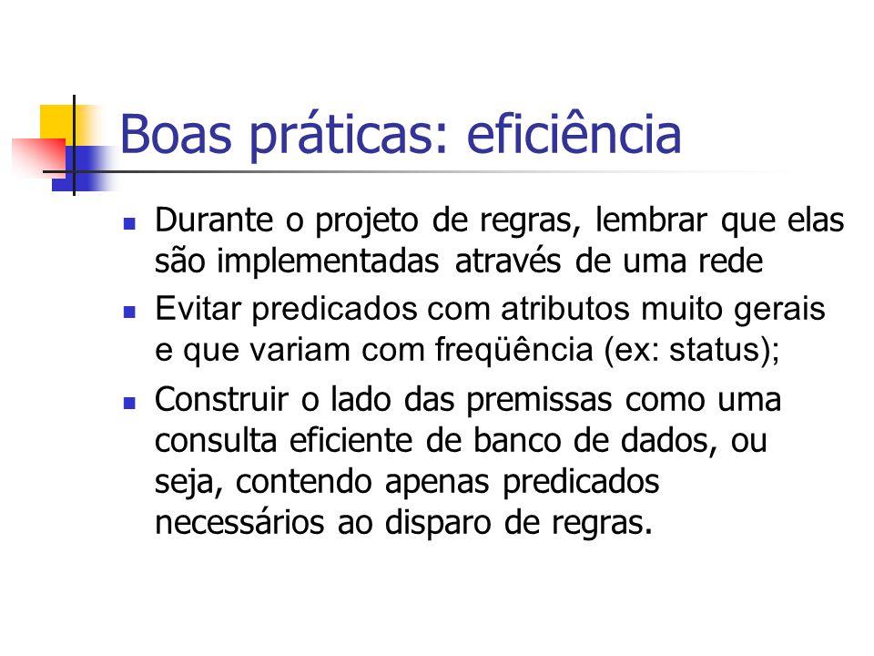 Boas práticas: eficiência