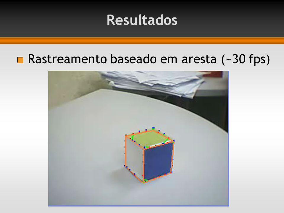 Resultados Rastreamento baseado em aresta (~30 fps)