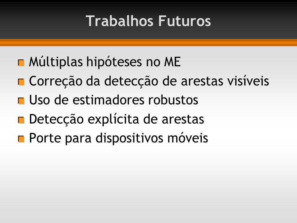 Trabalhos Futuros Múltiplas hipóteses no ME