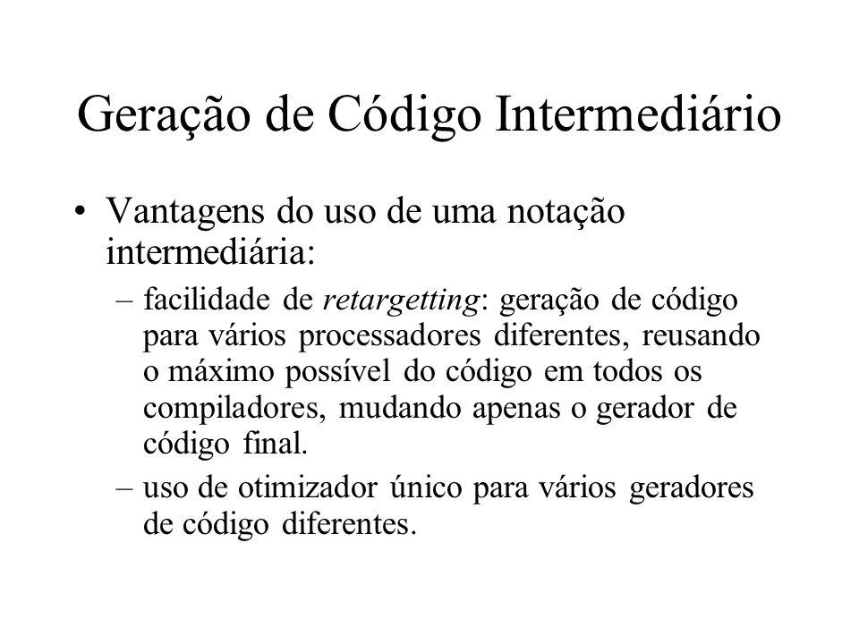 Geração de Código Intermediário