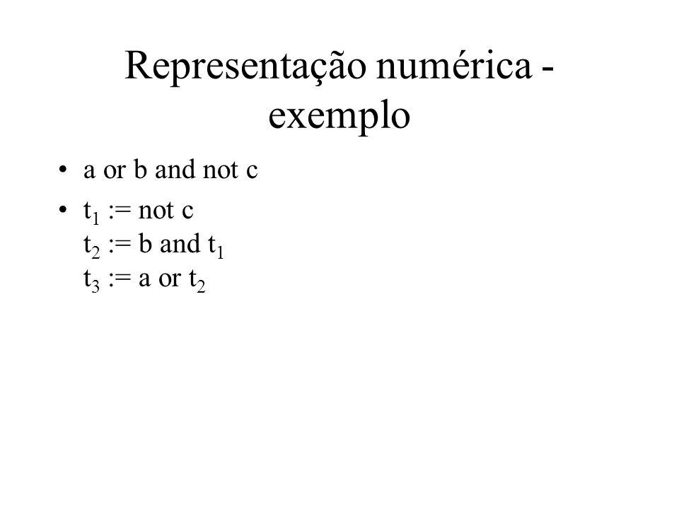 Representação numérica - exemplo
