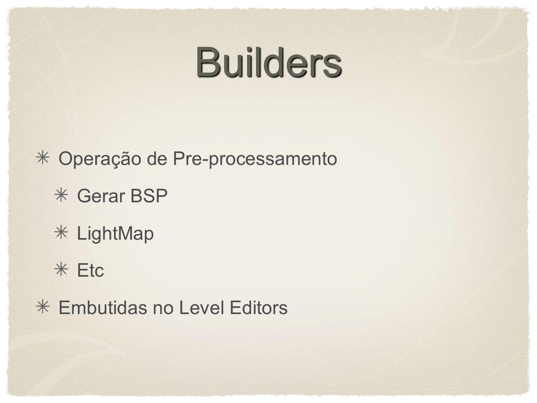 Builders Operação de Pre-processamento Gerar BSP LightMap Etc