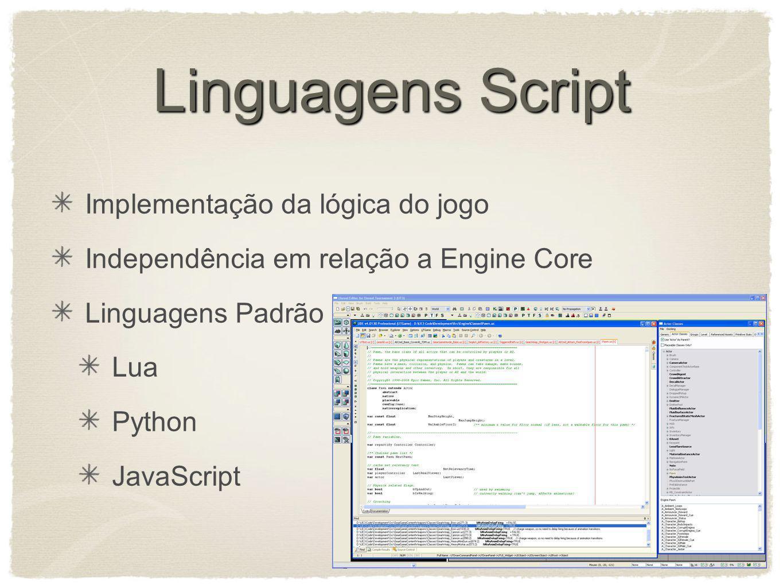 Linguagens Script Implementação da lógica do jogo