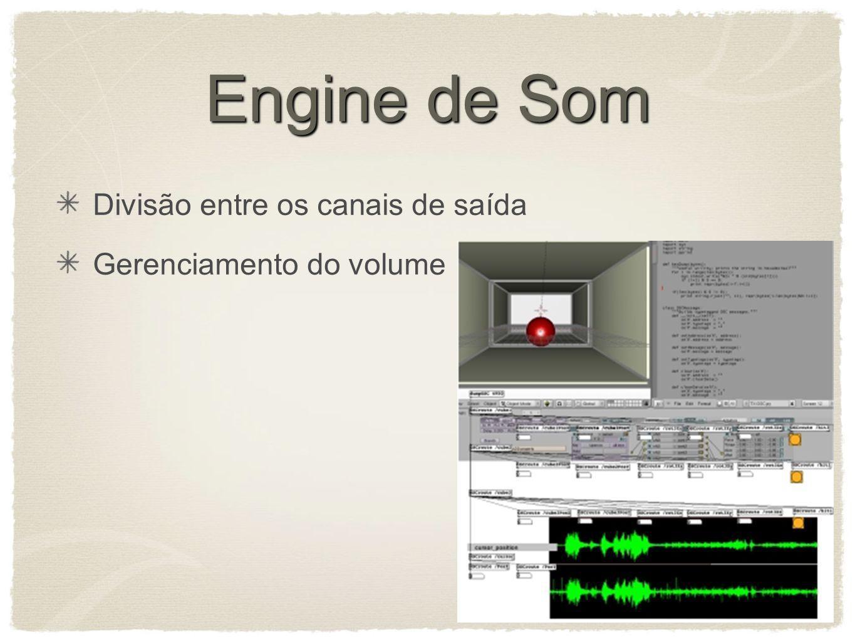Engine de Som Divisão entre os canais de saída Gerenciamento do volume