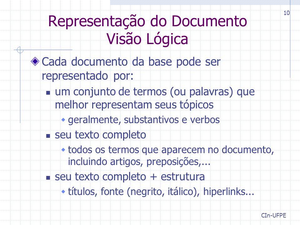 Representação do Documento Visão Lógica
