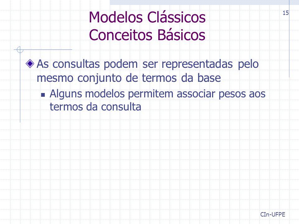 Modelos Clássicos Conceitos Básicos